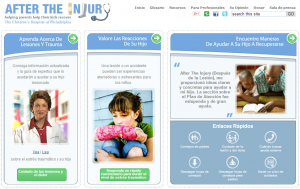 After The Injury website in Spanish. Spanish language tools for parents