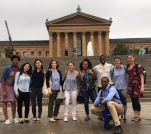 REU students at Philadelphia Museum of Art