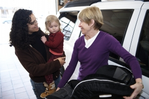 Child restraint system use and carpooling