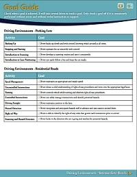 Teen Driving Plan Goal Guide
