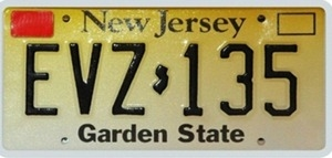 nj decal license plate