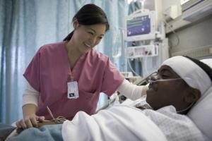 nurse practicing trauma-informed care