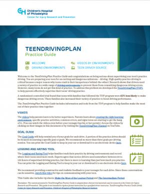 TeenDrivingPlan Practice Guide