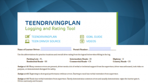 TeenDrivingPlan Logging & Rating Tool