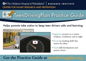 TeenDrivingPlan Practice Guide Postcard Cover